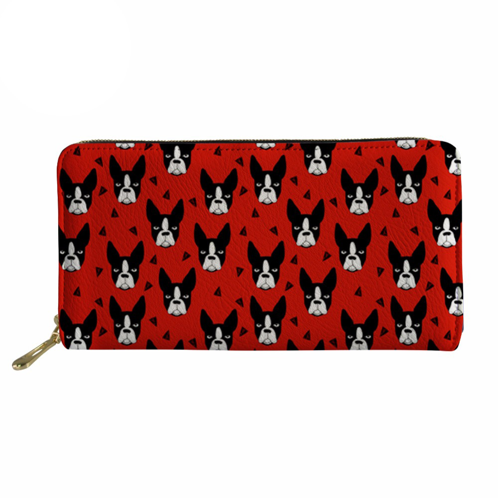 Noisydesigns Women Wallets Rfid Long Purse Wallet Female Fashion Boston Terrier Pattern Ladies Coin Pocket Girls Money Bag 2017