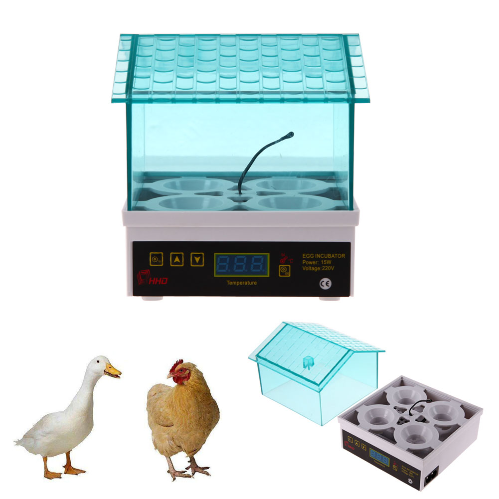 Mini Egg Incubator 220V/15W Eggs Automatic Poultry Chicken Hatcher Machine for Chicken Duck Bird Pigeon With EU Plug