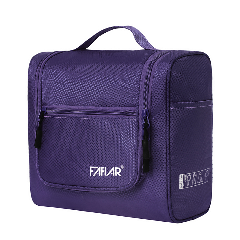 Portable Vanity Case Waterproof Nylon Makeup Bag Travel Toiletry Bag Women Handle Bathroom Hanging Organizer Accessories