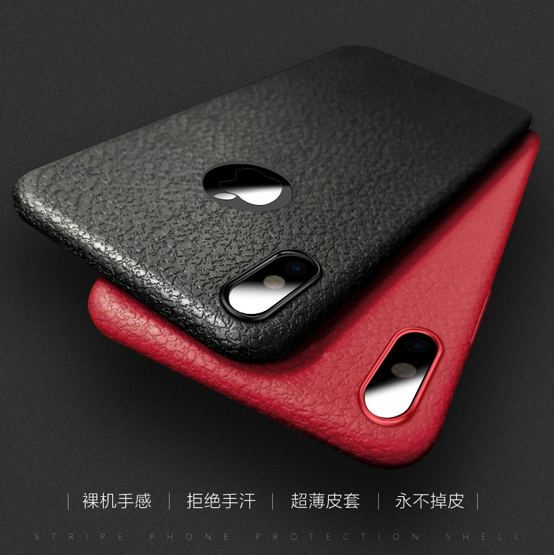 Business Ultra Thin Leather Skin Soft TPU Phone Back Case For iPhone XS MAX XR X 8 7 6S Plus Luxury Slim Shockproof Cover Fundas (2)