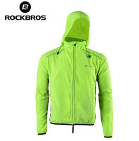 ROCKBROS Bike Cycling Jersey With Hood Outdoor Sports Reflective Wind Coat Windproof Long Sleeve Bicycle Jersey