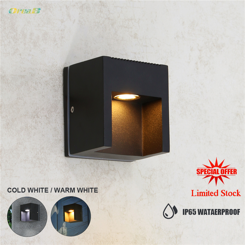 Aluminum Garden Porch Outdoor Wall Light Fixtures Ip65 Waterproof Vintage Exterior Wall Sconce Lighting 85 265V