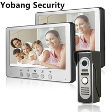Yobang Security Freeship 7″ Moniter Video Door Phone Intercom Doorbell System Kit Unlock IR Night Vision Rainproof Camera Video
