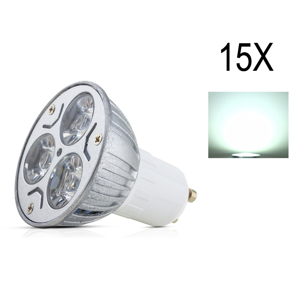 15X High brightness lamp Spot light LED Bulb Light Cold/Warm White GU10 3W LED Spot Light AV85~265V High Brightness LED Lampada high quality 9w epistar led spot bulb e27 base par38 led light 900lm white ac85 265v ce