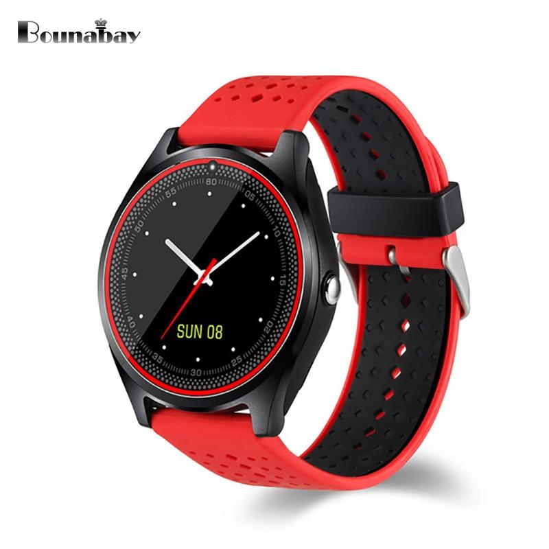 BOUNABAY Smart Sports Bluetooth 4.0 Watch for women original ladies analog watches android ios Call phone clock woman clocks эра p45 e14 5w 230v белый свет