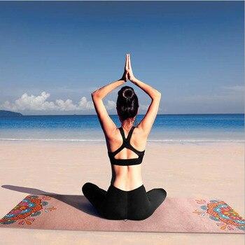 1.5mm high-end non-slip printed suede natural rubber yoga mat esterilla yoga tapis yoga colchoneta exercise mat fitness gym mat