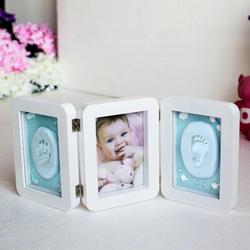 3D Новорожденные формы детские отпечаток отпечатка ноги фоторамка для ухода за малышами сувенир литье новорожденный отпечаток ноги мягкая