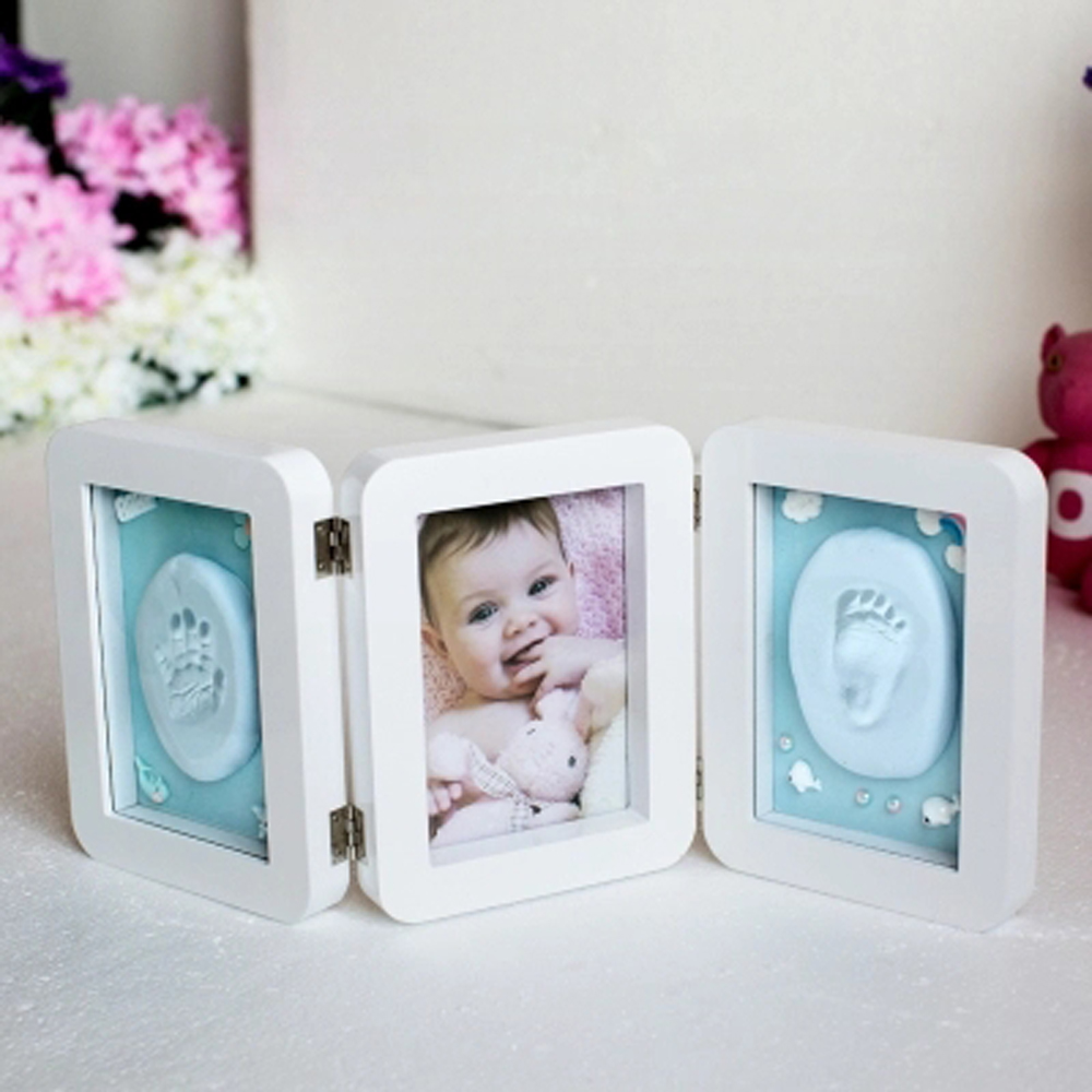 3d Newborns Molds Baby Handprint Footprint Photo Frame For Baby Care Babies Souvenir Casting Newborn Footprint Soft Clay Inkpad