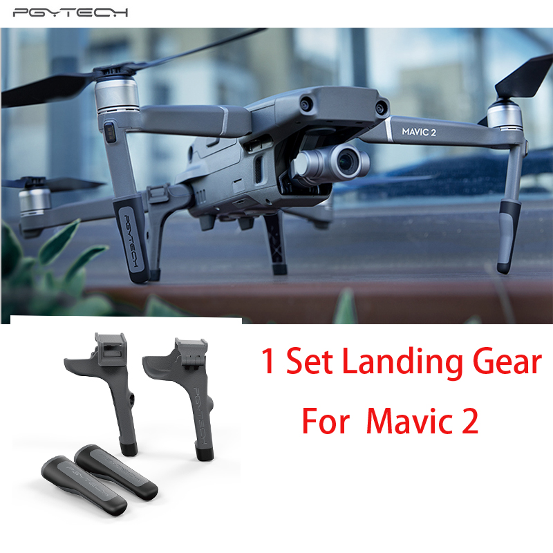 PGYTECH Extended Landing Gear For DJI Mavic 2 pro/zoom Support Protector Extension Replacement Fit for DJI Mavic 2 Accessories pgytech dji mavic 2 landing gear riser extended landing gear leg for dji mavic 2 pro zoom fly more combo drone accessories parts