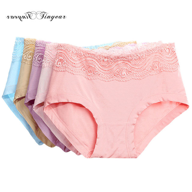 55d9fbdbcb7e 2016 Drop ship pink polyester underwear women breathable sexy lace ladies  panties s-xl multicolor ropa interior mujer