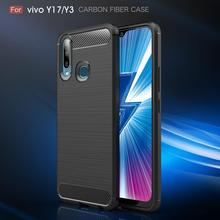 Vivo Y71/Y3 Case Soft Bumper Carbon Fiber Silicone Cover For V15/S1 V15 Pro Y83 Back Y71 Coque Fundas