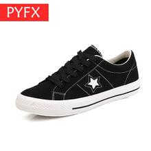 2019 summer classic  south Korean version canvas shoes womens suede casual round head lace-up flat for men pentagram