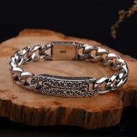 New Thai silver Long breasted man Bracelet 925 sterling silver men's silver jewelry rough domineering men Bracelet Best Gifts