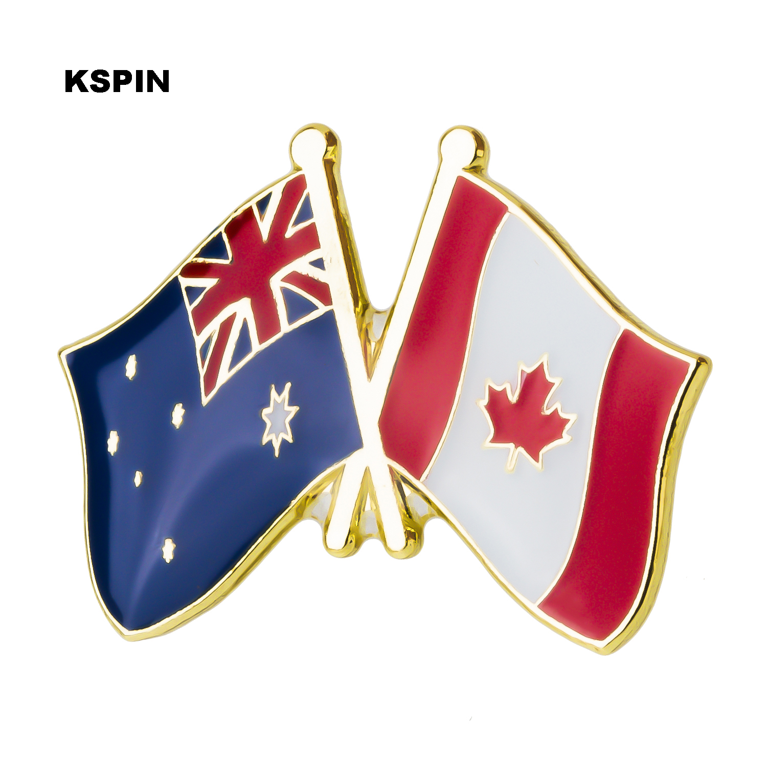 Metal Badge Australia Canada Friendship Flag Label Pin Badges Icon Bag Decoration Buttons Brooch For Clothes Good Companions For Children As Well As Adults Apparel Sewing & Fabric