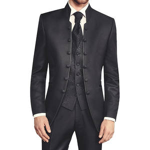 Foviva Black Wedding Suits Custom Slim Fit Male Blazer 2018