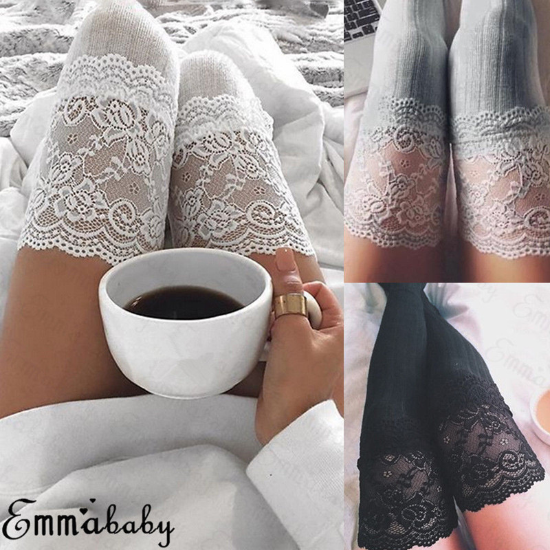 Women Socks Stockings Warm Thigh High Over the Knee Socks Long Cotton Lace up Stockings medias Sexy Stockings
