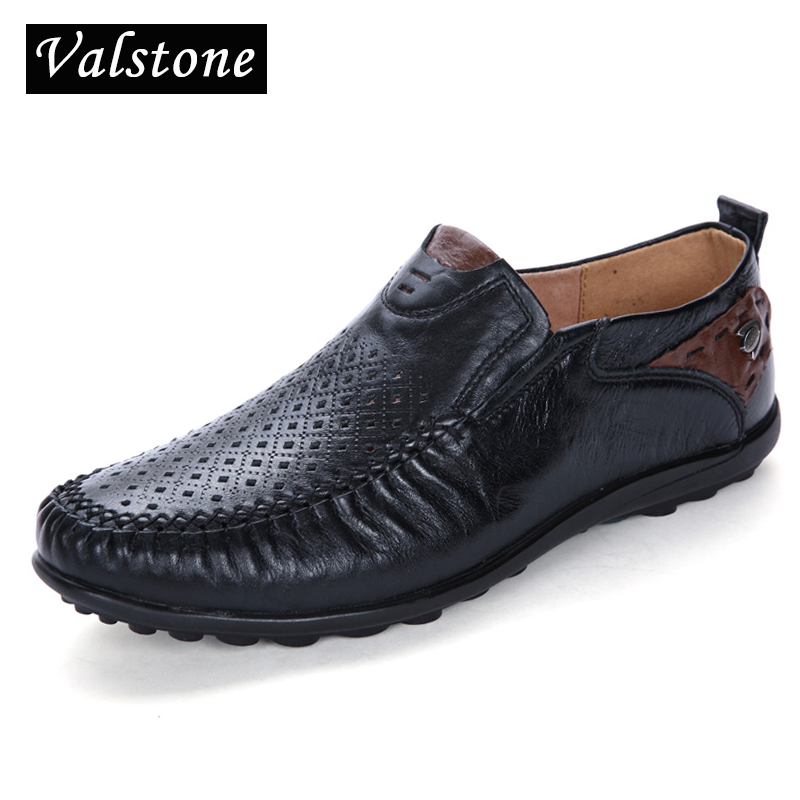 Glissement Black black Perforated Cuir Appartements Spéciale Superstar Respirant Offre Perforated En Creusé Brown Et Perforated Split Hommes yellow dark Été Sur Chaussures Valstone Mocassins 2018 Printemps darkbrown yellow qUZwAB