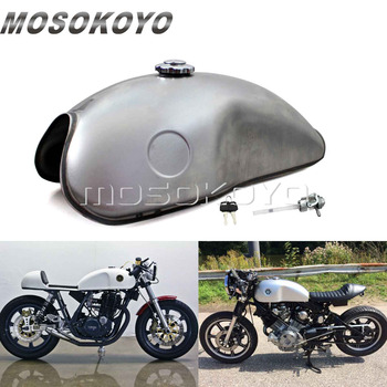 Moto Custom Vintage 2.6 Gal Gas Oil Tank for Honda CB CX 750 Yamaha XVS SR 650 500 BSA B54 Cafe Racer Fuel Tank