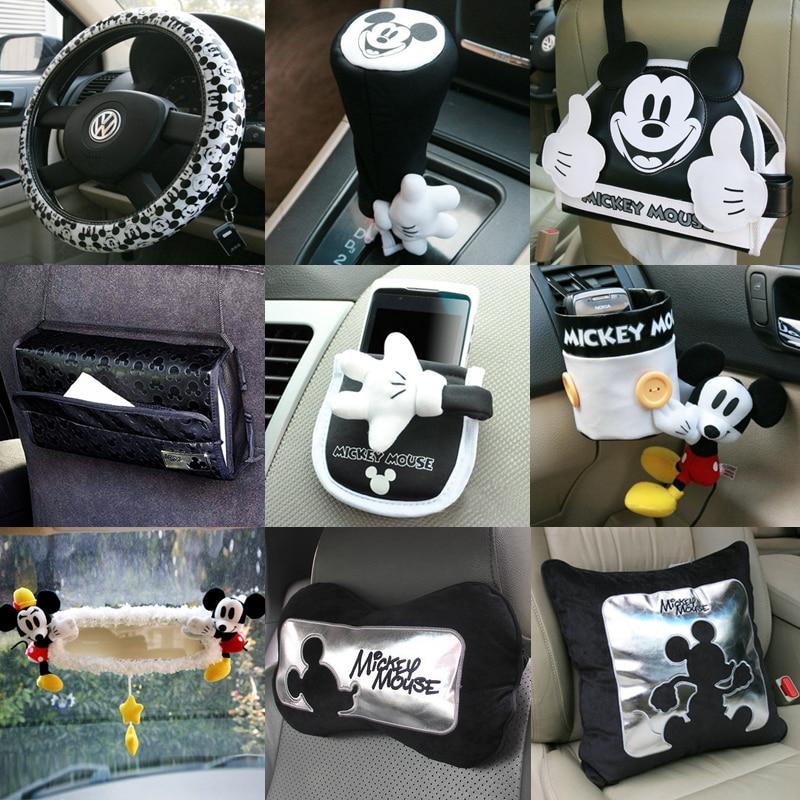 Genuino para mickey cartoon decoraci n interior del coche accesorios de autom viles accesorios - Decoracion interior coche ...