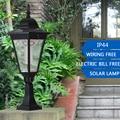 0.43M 120LM Outdoor LED Solar Garden Post Light Waterproof Pillar Lamp for Garden Decor Wall Path Landscape Lawn Yard Street