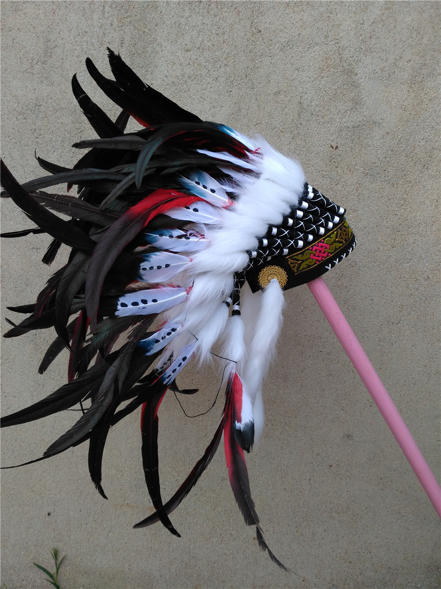 RED Feather headdress costumes feather headdress headpiece halloween costume