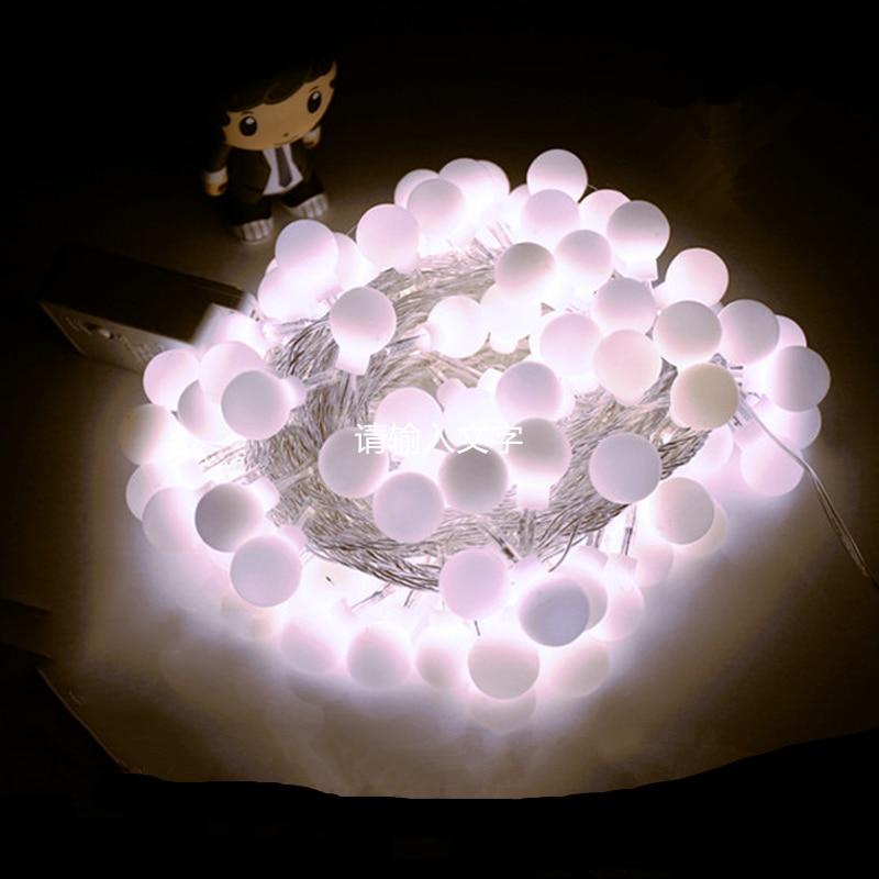 10 Meter Ball String Lights Globe Christmas Outdoor Waterproof Led Garland EU Plug for Tree Room Garden H-20