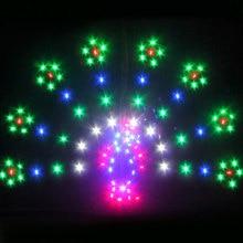 Профессиональный кайт 1.5 квадратных метров LED Мощность Павлин кайт/животного воздушных змеев с 48 огни Хорошо Летающий обувь по заводским ценам