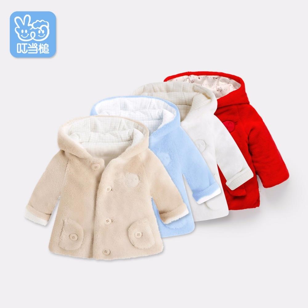 Dinstry Nyfødt høst vinter barns polstret kjole baby jakke Gutter Jenter tykk babys bomull Overcoat