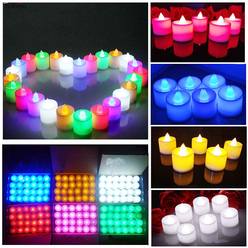 Hot Children's Luminous Toy LED Candle Valentine's Day Decoration Simulation Color Flame Flashing Family Wedding Birthday Party
