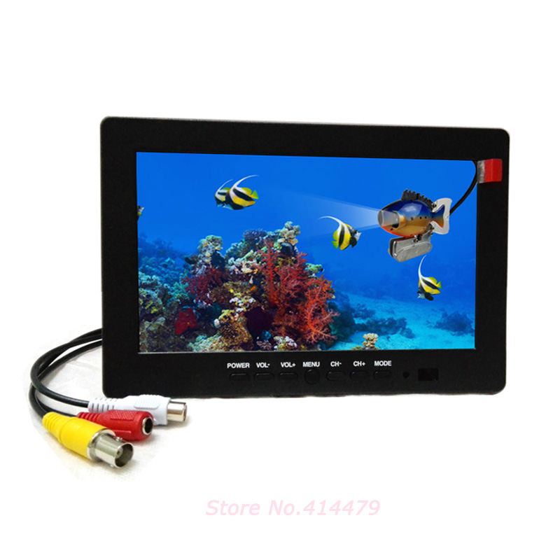 7 inch TFT CCTV LCD Monitor BNC AV Video input For Car Monitor or Security Camera Monitor escam t10 10 inch tft lcd remote color video monitor screen with vga hdmi av bnc usb for pc cctv home security system camera