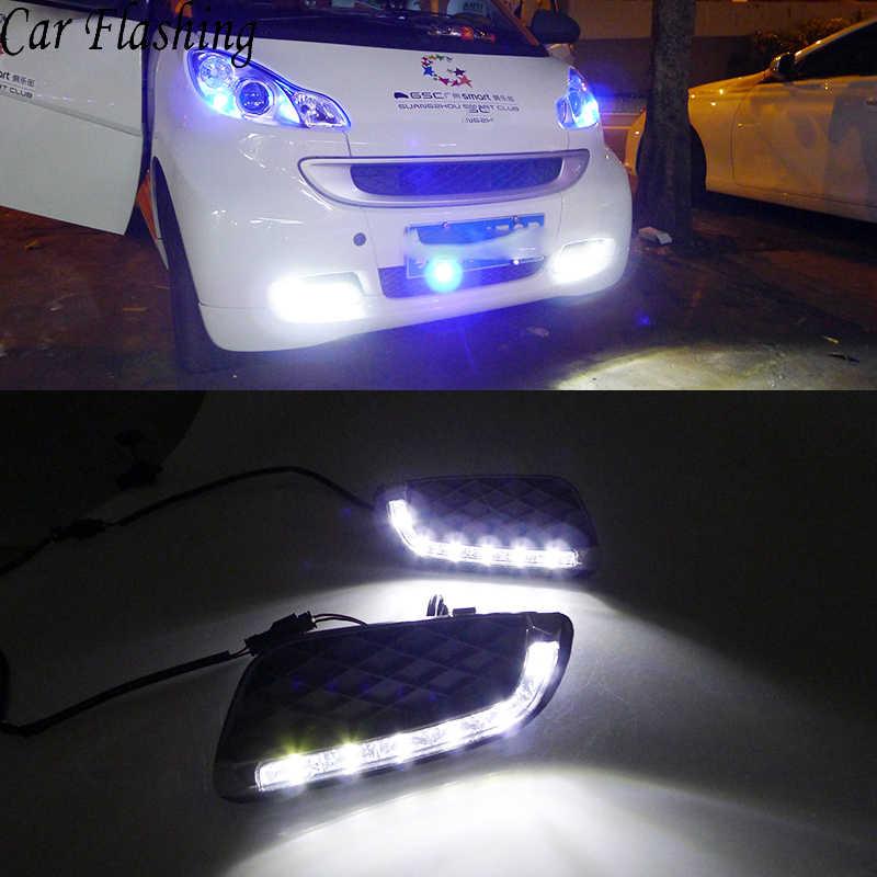 Reflektory samochodowe 2 sztuk LED DRL światła dzienne