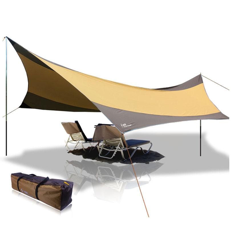550 x 560cm Portable Lightweight Waterproof Rain Tarp, UV Beach Tent Tarp Shelter Sun Shade jessica bird vienišas tarp milijonų