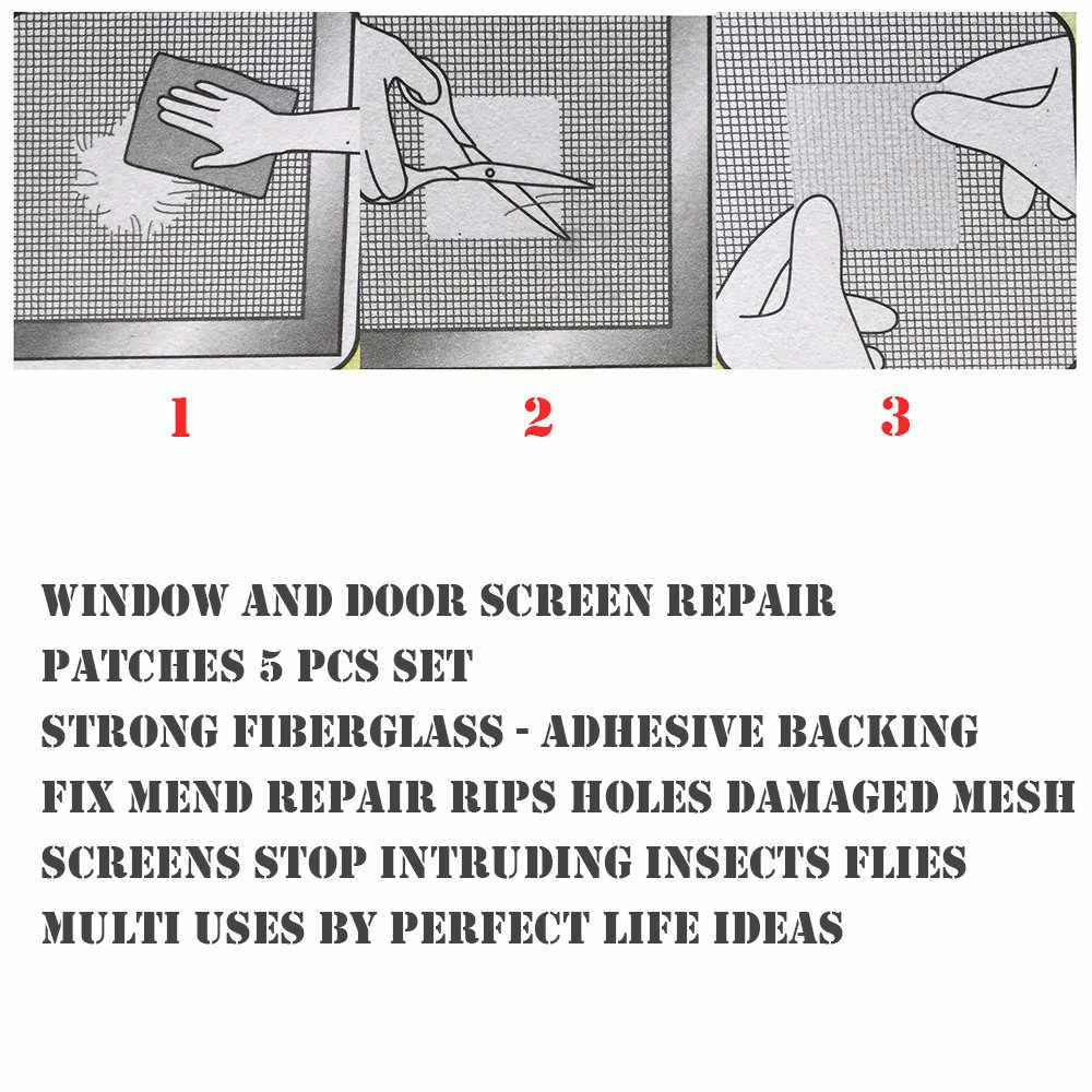 5 قطعة نافذة البعوض المعاوضة التصحيح إصلاح كسر ثقوب على الشاشة نافذة الباب مكافحة البعوض شبكة لزجة أسلاك بقع #10