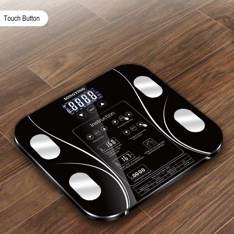 Hot 13 Índice Corpo Inteligente Eletrônico Balanças de Banheiro de Gordura Corporal b mi mi de Peso Escala Humana Digital Balanças de Piso display lcd
