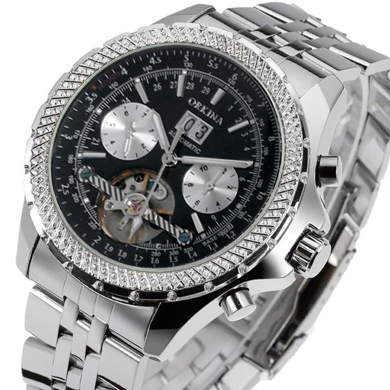 где купить New Military Top Brand Luxury Automatic Self-wind Relogio Masculino Watches Mechanical Fashion Luxury Men Watch Tourbillon Clock по лучшей цене
