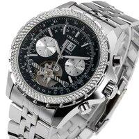Mechanical Automatic Sport Wrist Watch Tourbillon Day Date Analog Calendar Military Men Men Army Luxury Gift