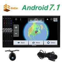 EinCar Android 7.1 Octa-core Voiture Électronique 2 Din GPS Navigation Tête Unité support Double Cam-en Wifi OBD2 1080 p Caméra de recul
