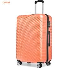 CUWHF Универсальный колеса молнии замок багажа Набор TSA 20 24 дюйм(ов) spinner чемодан саквояж на колесах