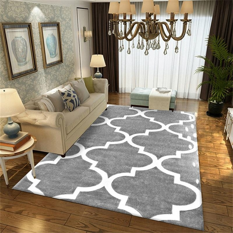 New Modern Soft Carpets For Living Room Bedroom Rugs Grey Geometric Style Large Area Rug Home Carpet Floor Door Mat Decoartive