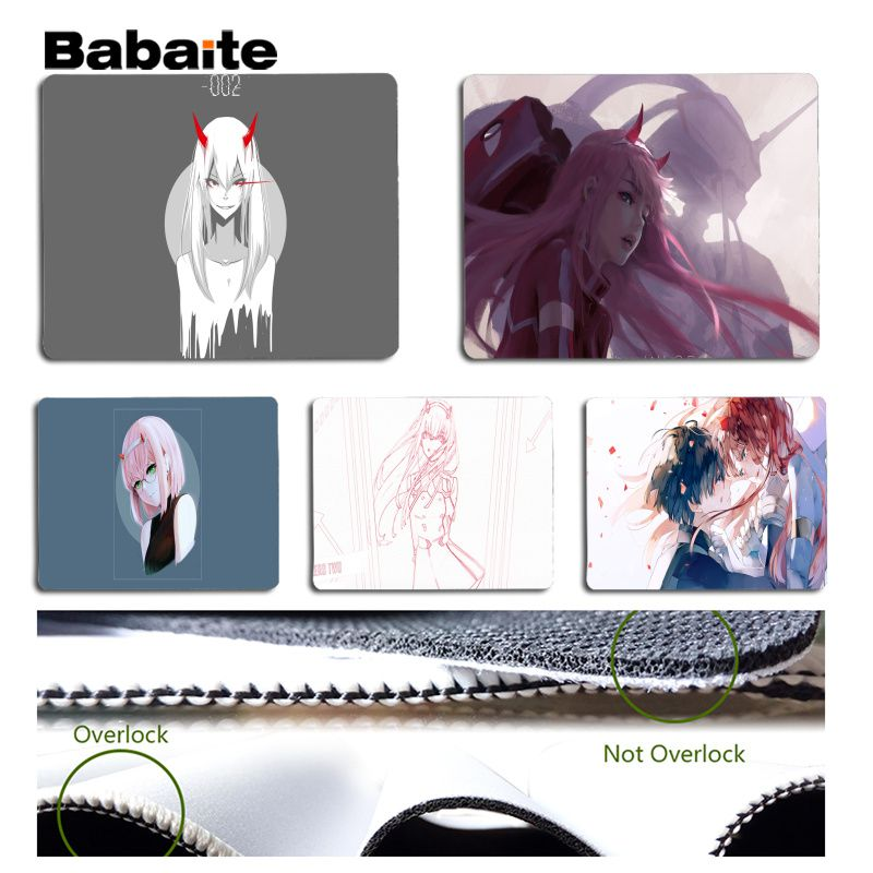 Babaite Anime Darling in the FranXX Customized laptop Gaming mouse pad Size for 180x220x2mm and 250x290x2mm Design Mouse Pad
