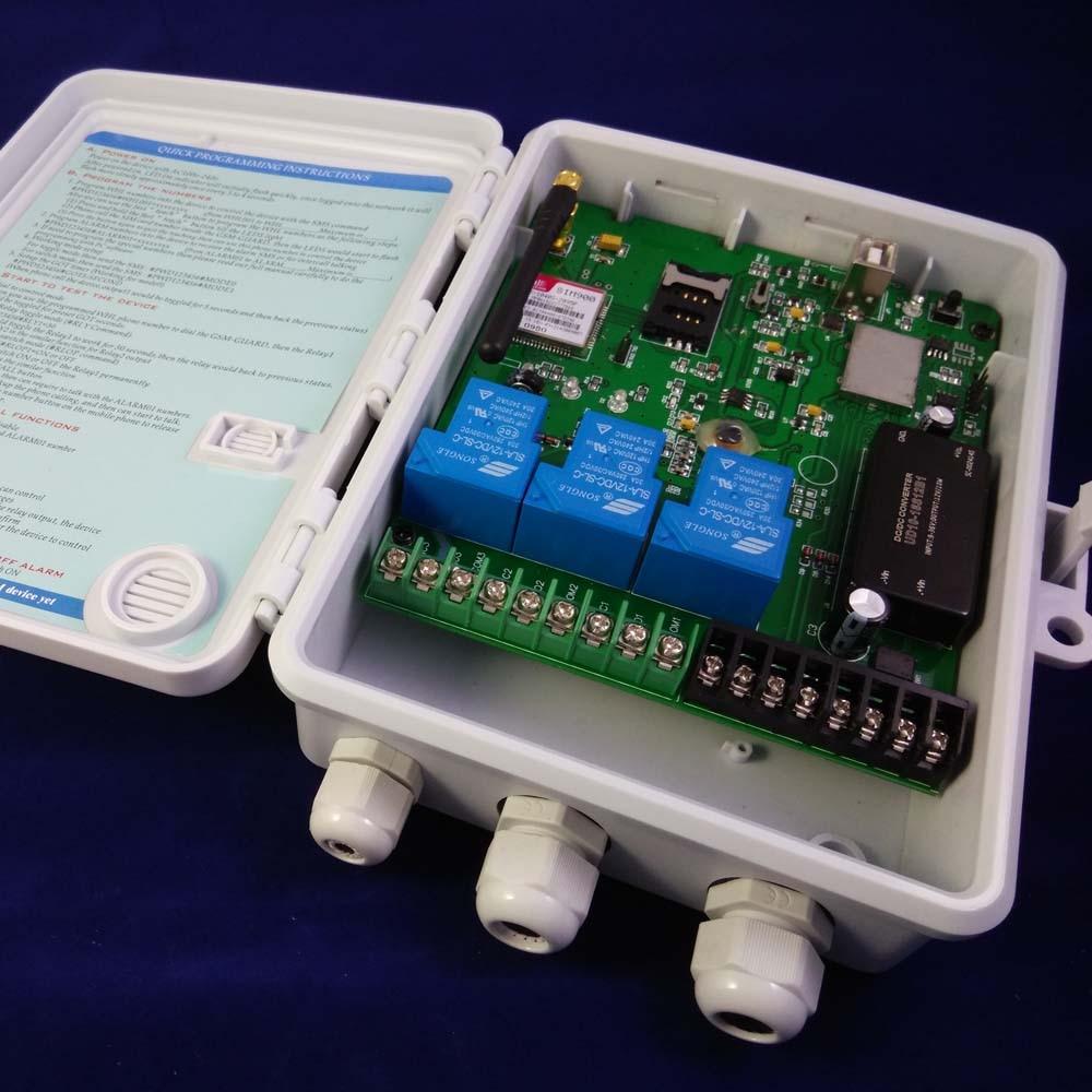 GSM-TOG GSM Remote Control and alarm box( Three big power Relay Control ) / Power input DC9-36V стационарные gsm телефоны
