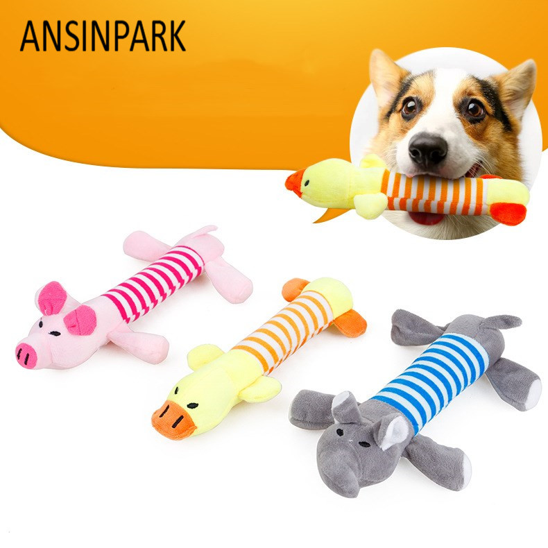 Ansinpark Animal Chew Toy Dog Cat Vocalization In Cloth Dolls Toys Sustainability Pet Dog Accessories Products High Quality W666