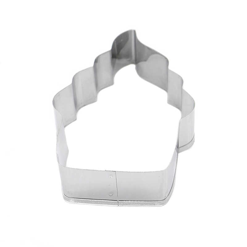 1 Buah Kue Kue Cetakan Cutter Stainless Steel Torch Bentuk DIY Fondant Biskuit Baking Dapat CSV