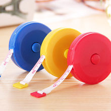 1x Random Color Retractable Tape Measure Sewing Dieting Tapeline Ruler Tiny Tool Tape Measures Meter Key Chain(China)