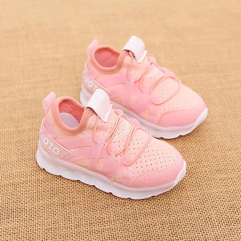 เด็กรองเท้า LED Light Up รองเท้าเรืองแสงรองเท้าผ้าใบ Luminous รองเท้าผ้าใบสำหรับเด็ก