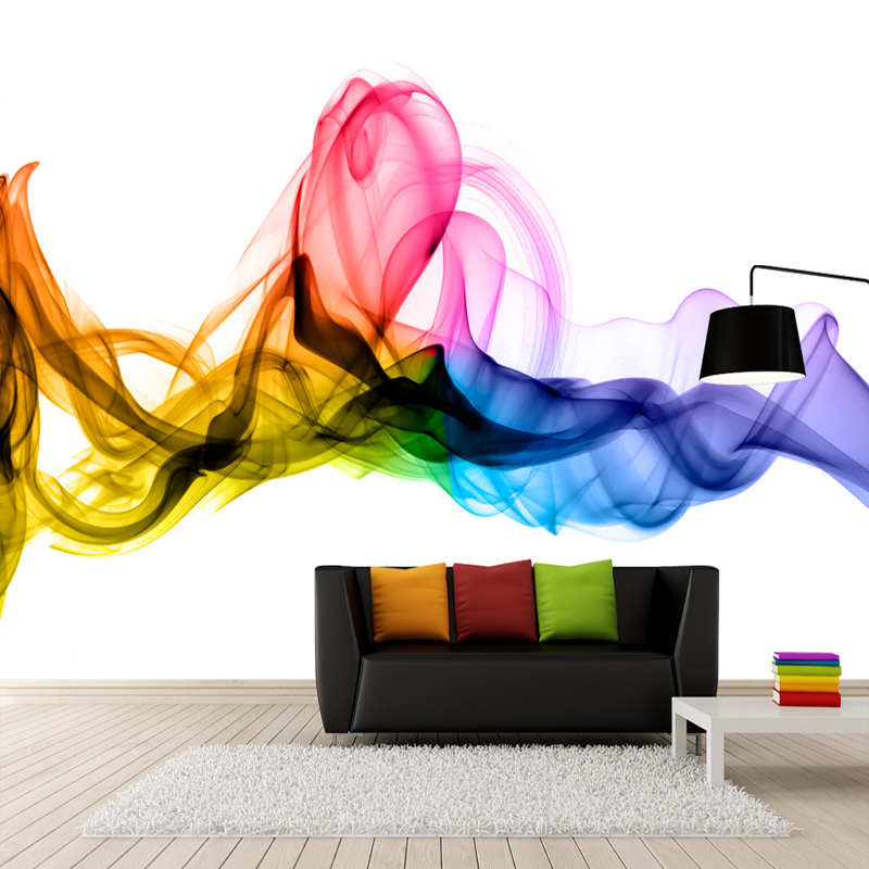 Us 8 97 53 Off Modern Abstract Art Color Smoke Photo Mural Wallpaper Personality Creative Living Room Study Gallery Home Decor Fresco Wallpaper In