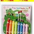 2016 multicolors Moda dos desenhos animados de madeira brinquedos instrumento musical de piano de aprendizagem educação brinquedos do bebê