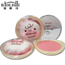 2pcs baolishi Good Quality Makeup Cosmetics Blush Blush Powder Blush On Face Powder Blush Palette with Natural brand Makeup