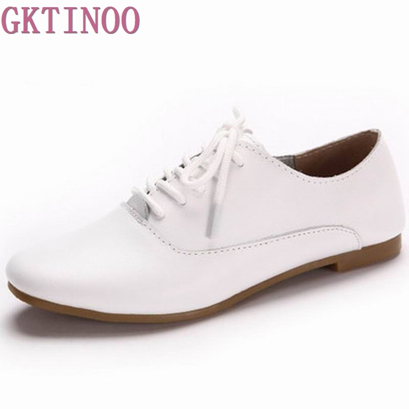 Genuine Leather Oxford Shoes For Women Flats New 2017 Fashion Moccasins Sapatos Femininos Sapatilhas Zapatos Mujer