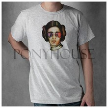 Princess Leia Star Wars t shirt Top Lycra Cotton Men T Shirt